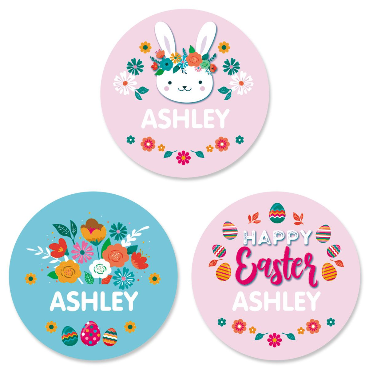Personalized Easter Variety Stickers