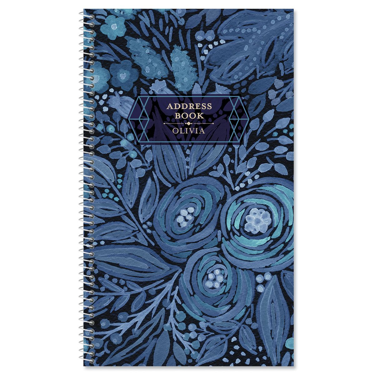 Navy Blossoms Address Book
