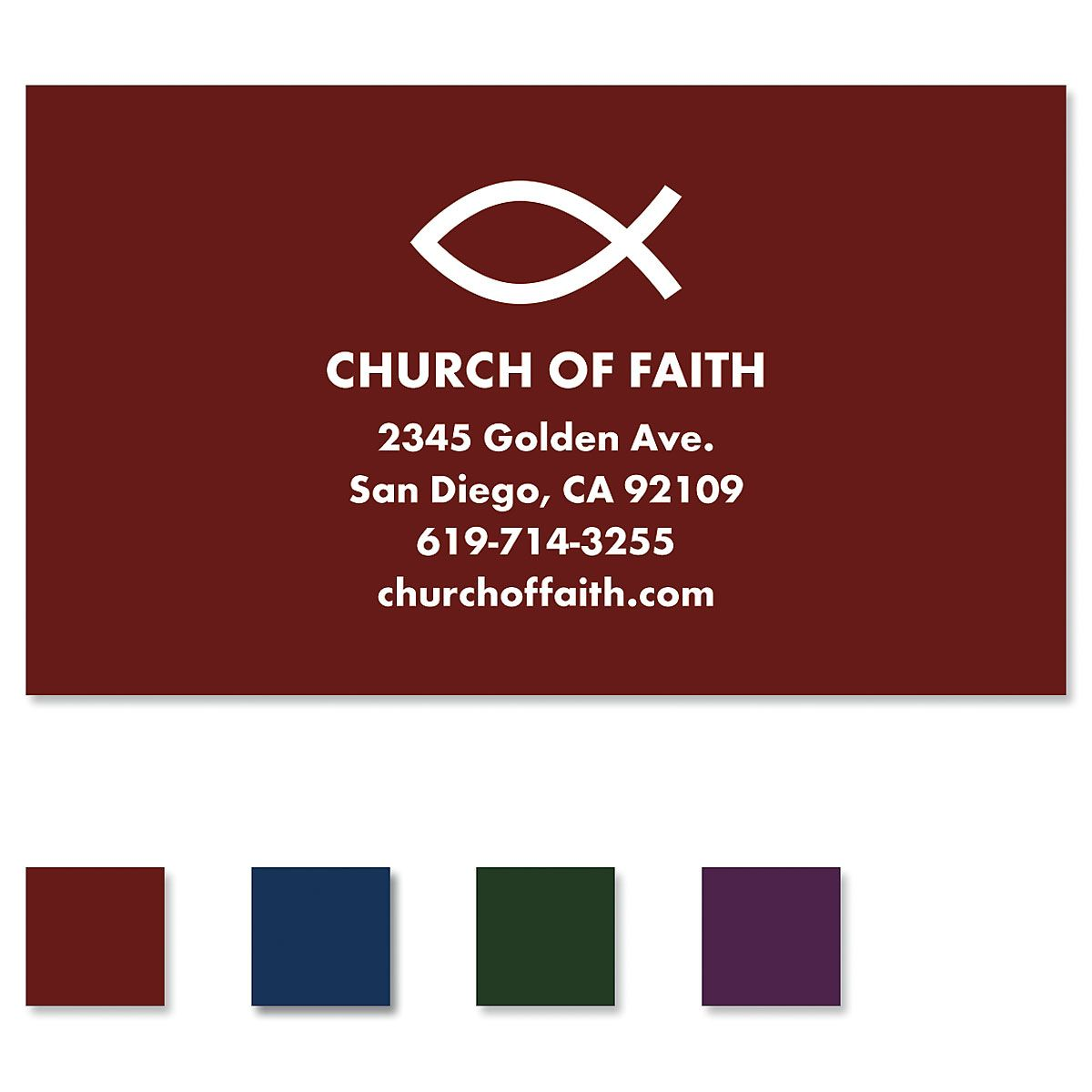 Simple Faith Standard Business Card