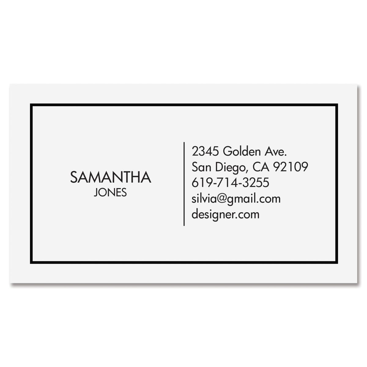 Modern Minimal Standard Business Card