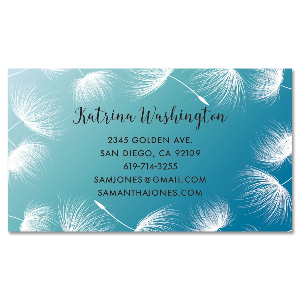 Dandelion Confetti Standard Business Card