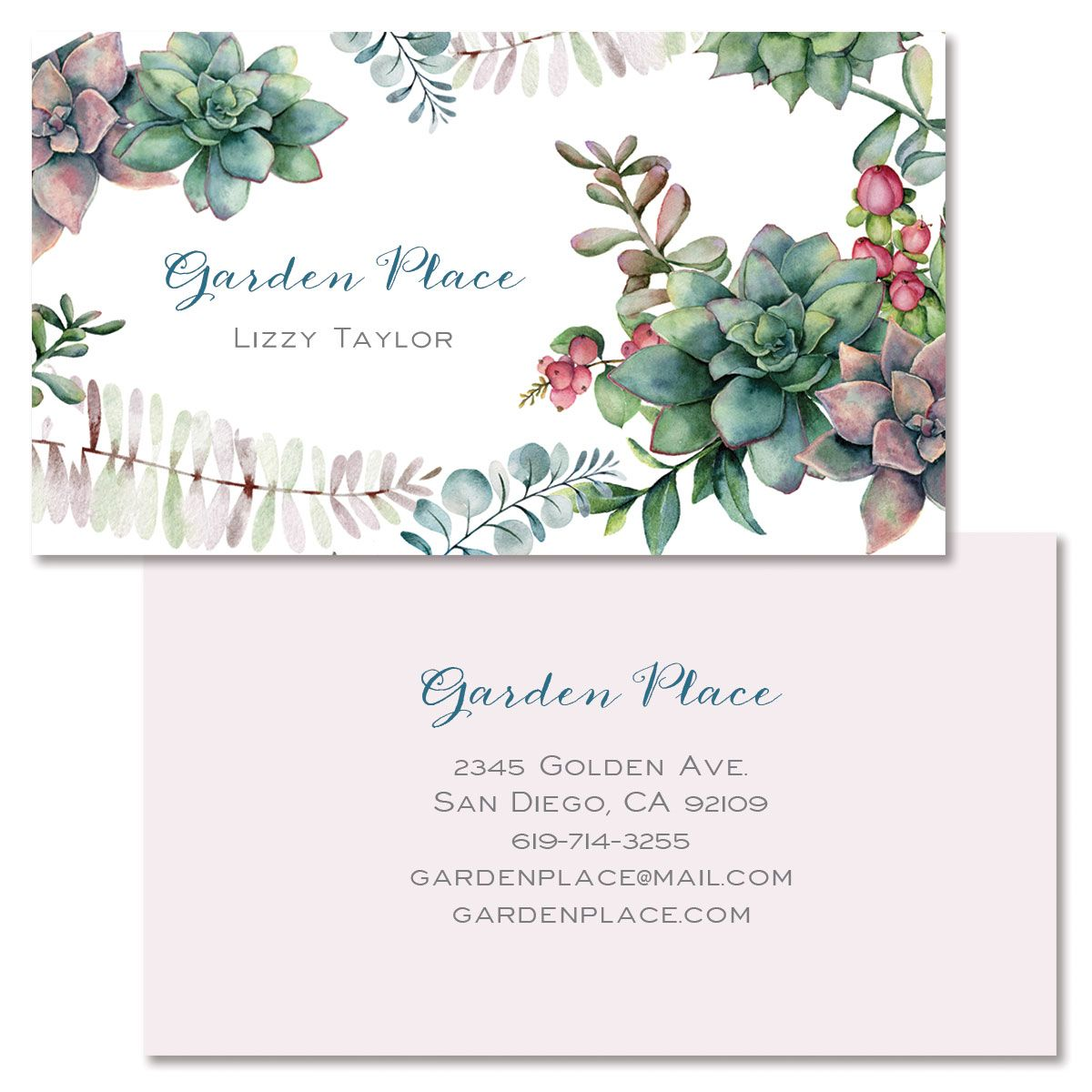 Green Foliage Double-Sided Business Card
