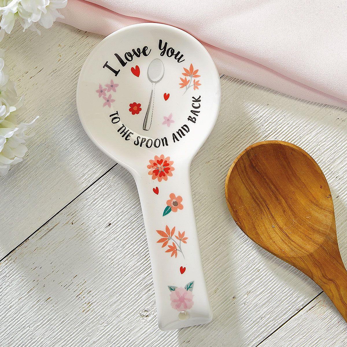 I Love You Ceramic Spoon Rest -BOGO