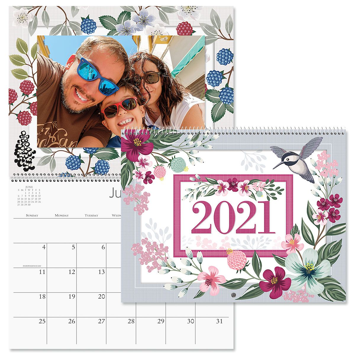 2021 Floral Scrapbooking Calendar