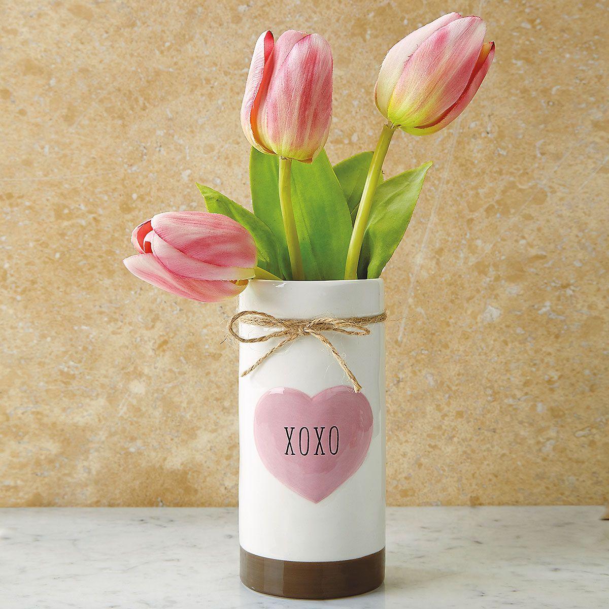 XOXO Heart Vase
