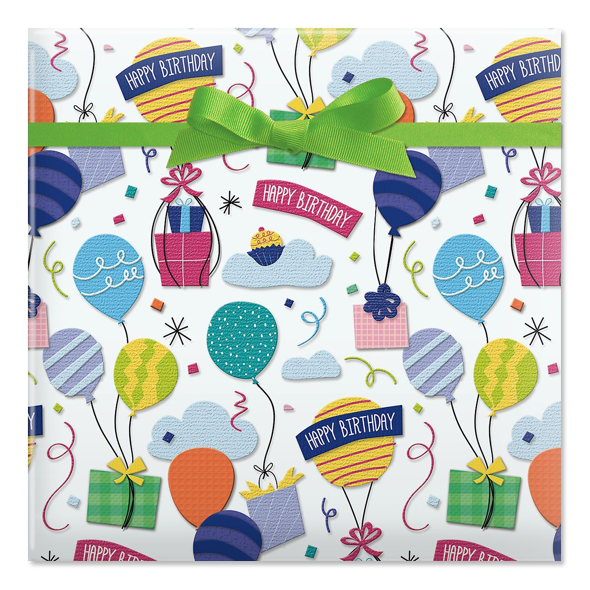 Birthday Gifts Jumbo Rolled Gift Wrap