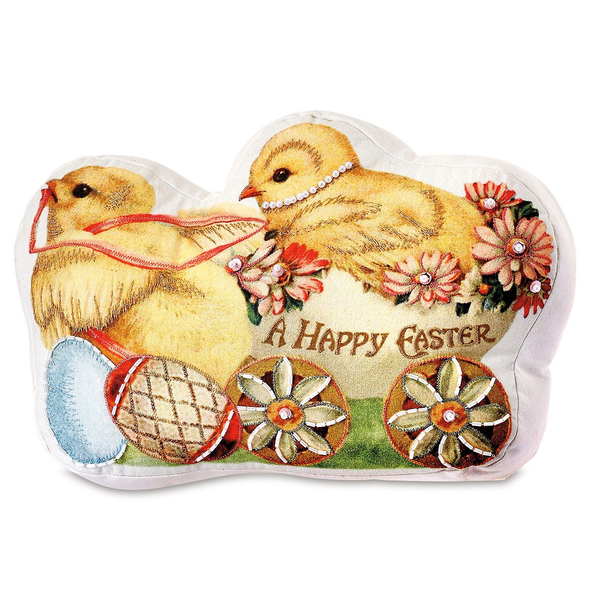 Vintage Easter Chicks Pillow