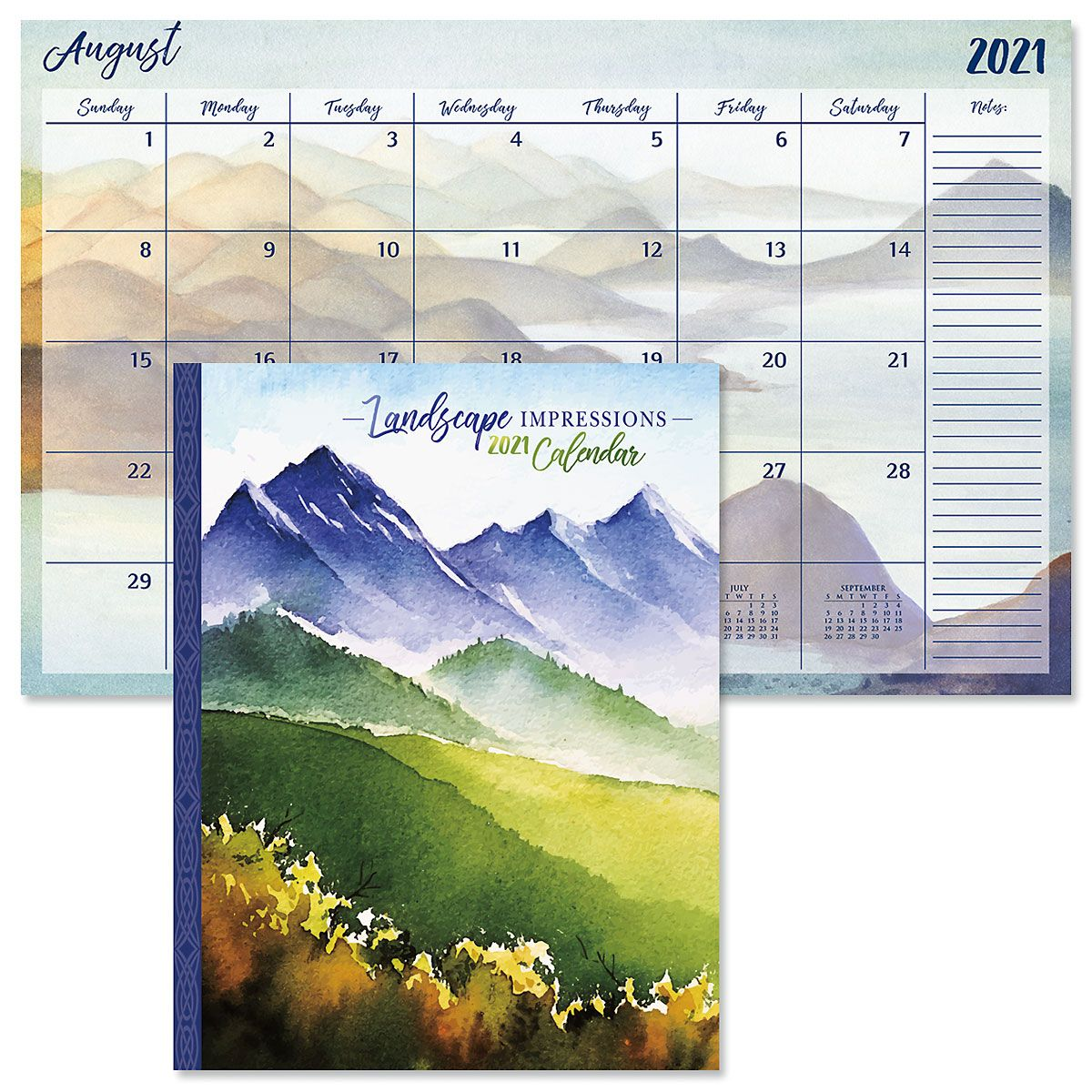 2021 Landscape Impressions Desk Calendar