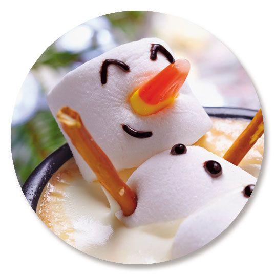 Marshmallow Snowman Seals