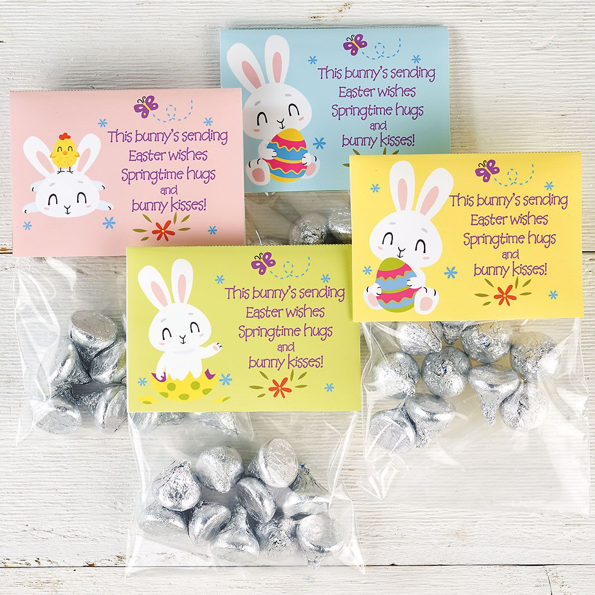 Easter Kisses Treat Bags & Toppers