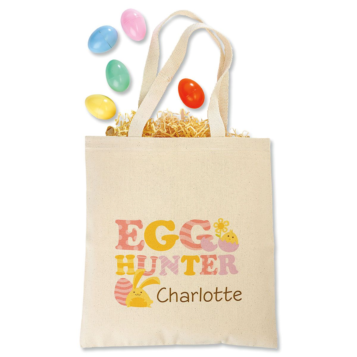 Easter Bunny Personalized Canvas Tote