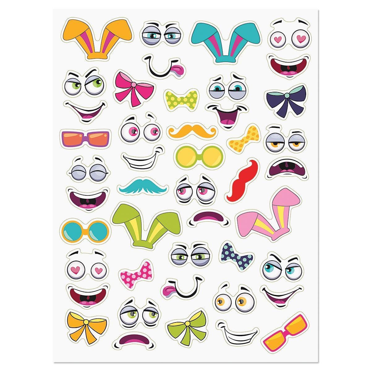 Egg Face Stickers - BOGO