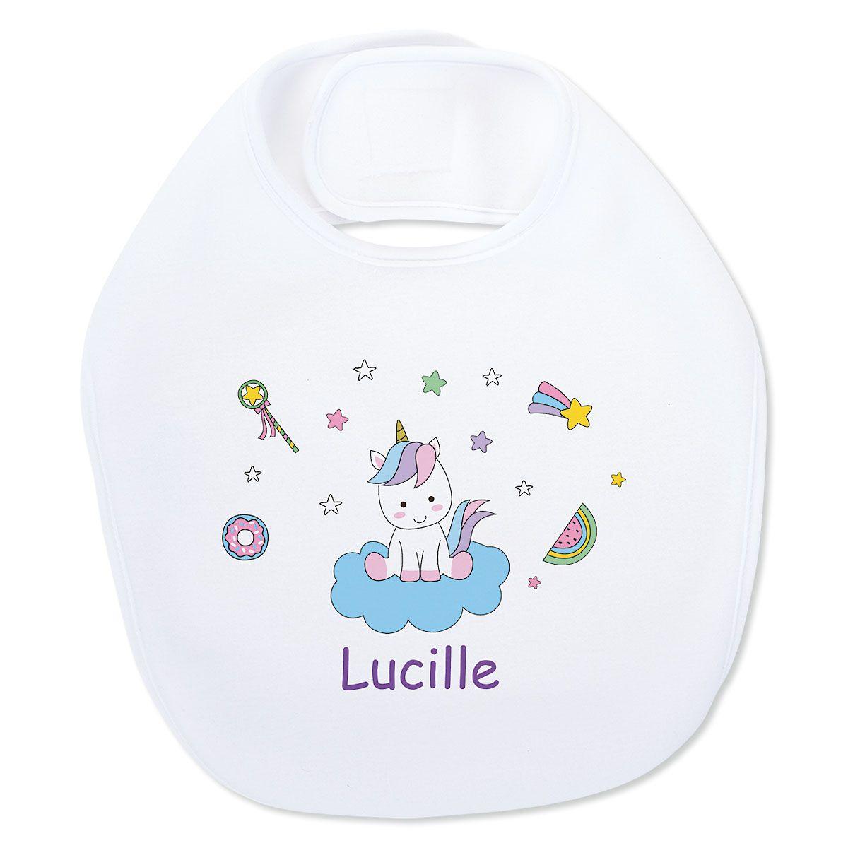 Baby Magical Unicorn Personalized Bib