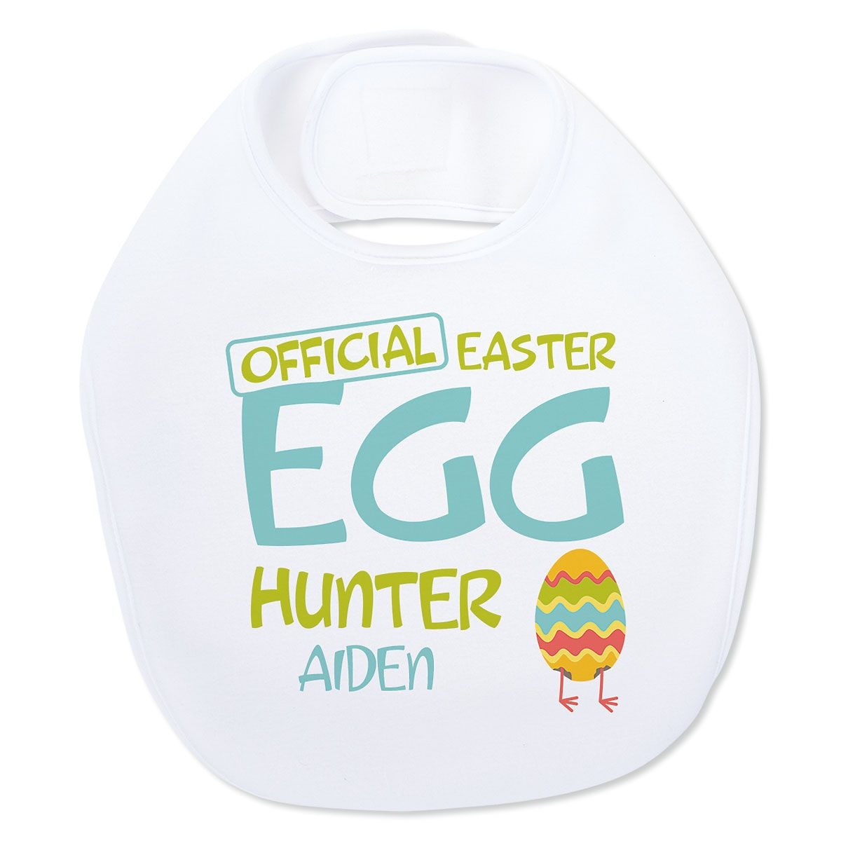 Baby's Easter Egg Hunter Personalized Bib