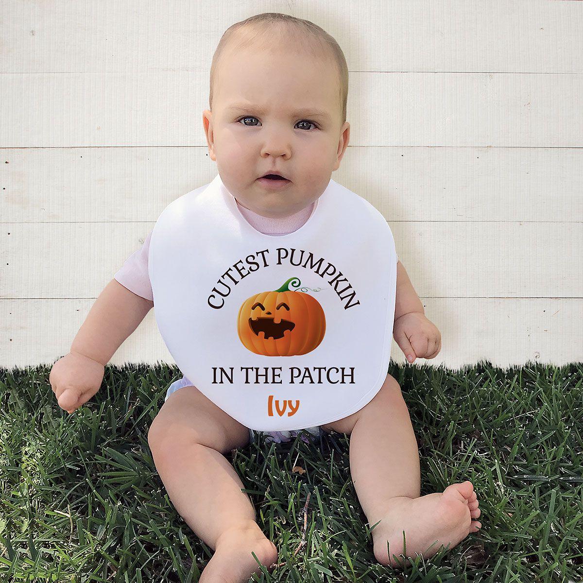 Baby's Halloween Personalized Bib