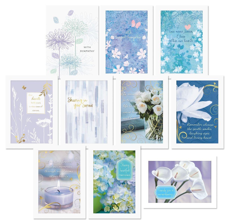 Lavender Sympathy Cards Value Pack