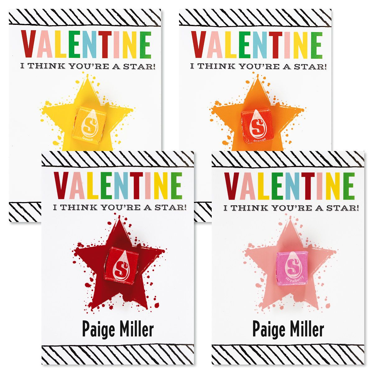 Star Personalized Valentines