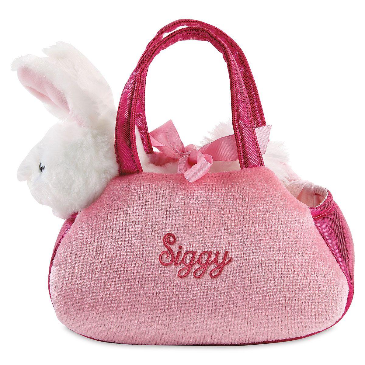 Peek-a-Boo Personalized Bunny Purse