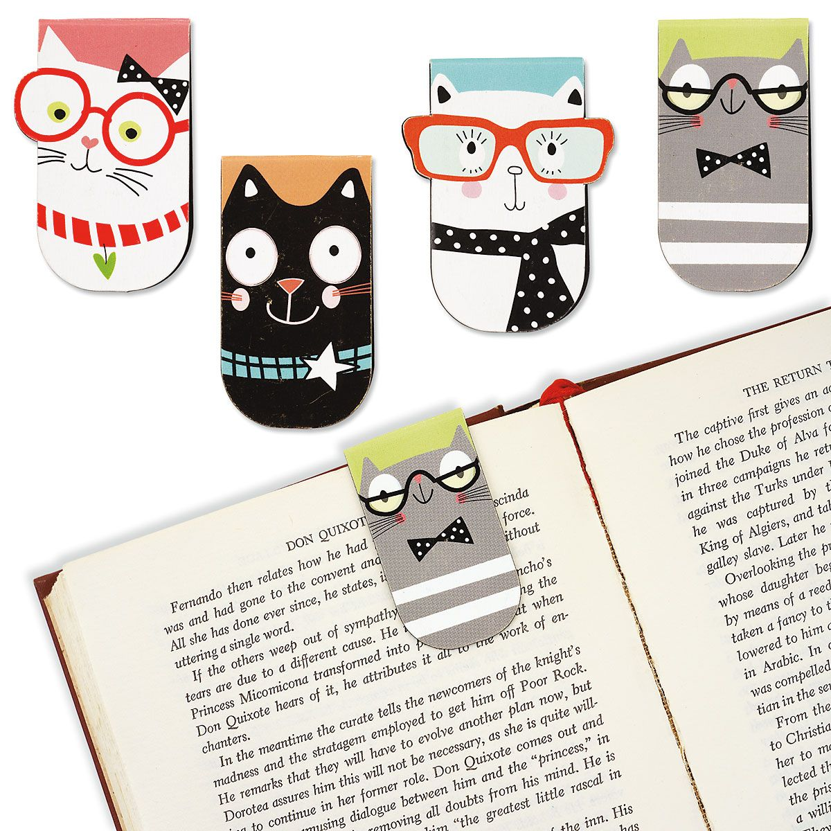 Smarty Cats Magnetic Bookmarks - BOGO