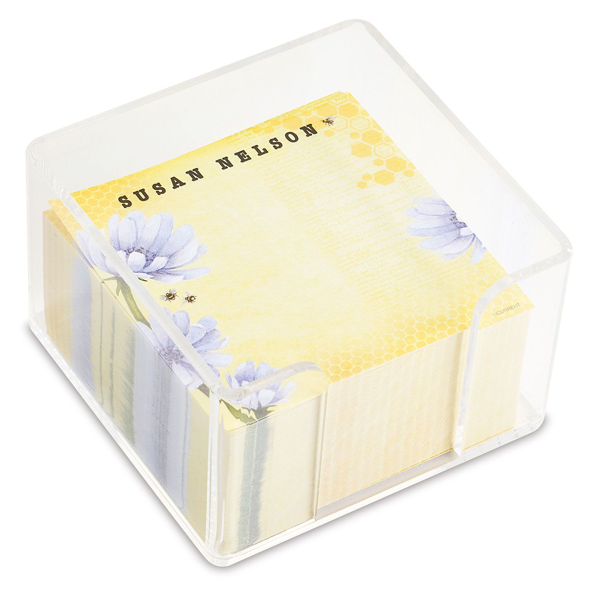 Bee Personalized Note Sheets in a Cube