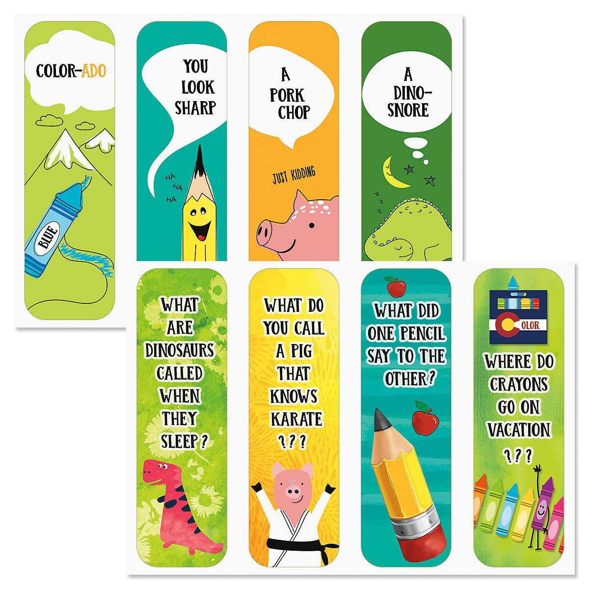 Diecut Kids Jokes Bookmarks