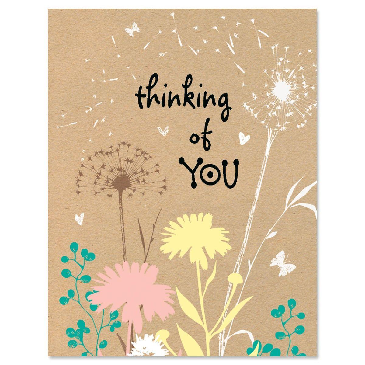 Kraft Thinking of You Note Cards - BOGO