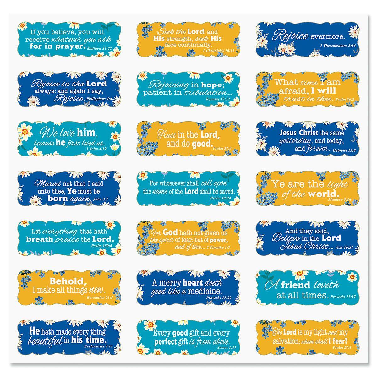 Tiny Blossom Scripture Stickers - BOGO