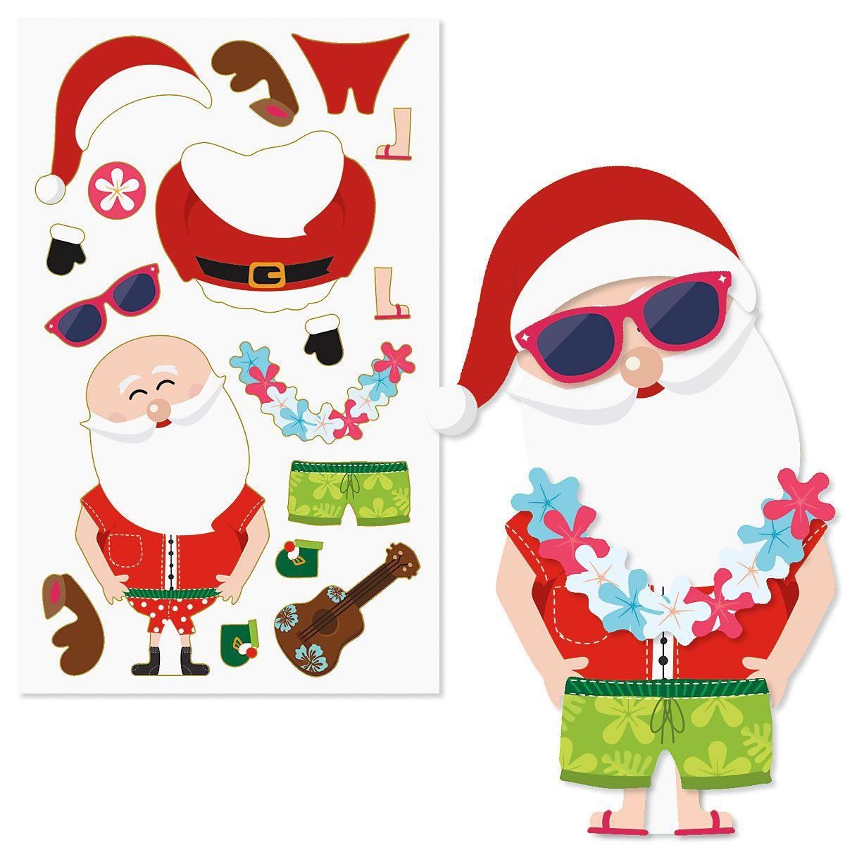 Build-a-Santa Stickers