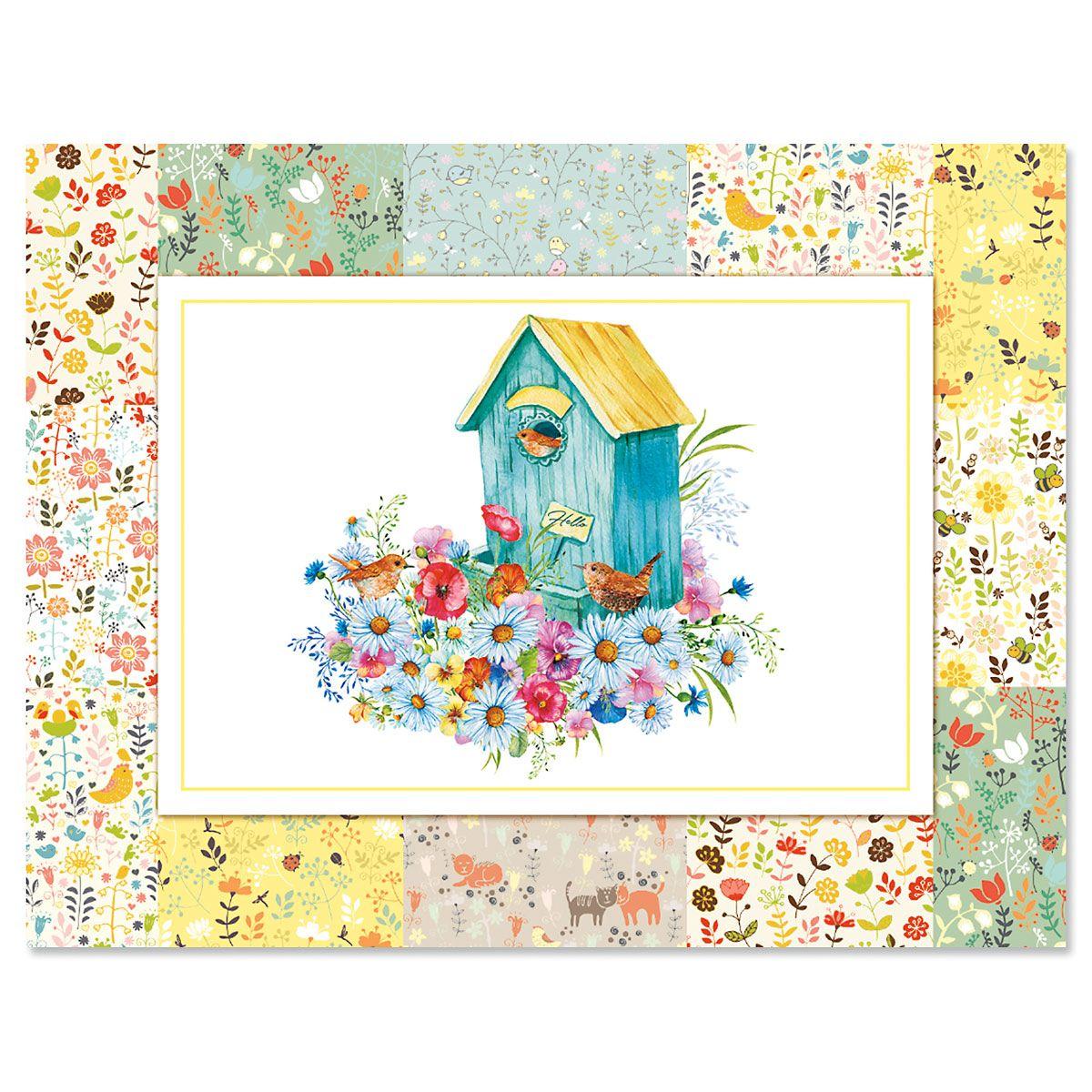 Floral Patchwork Note Cards - BOGO