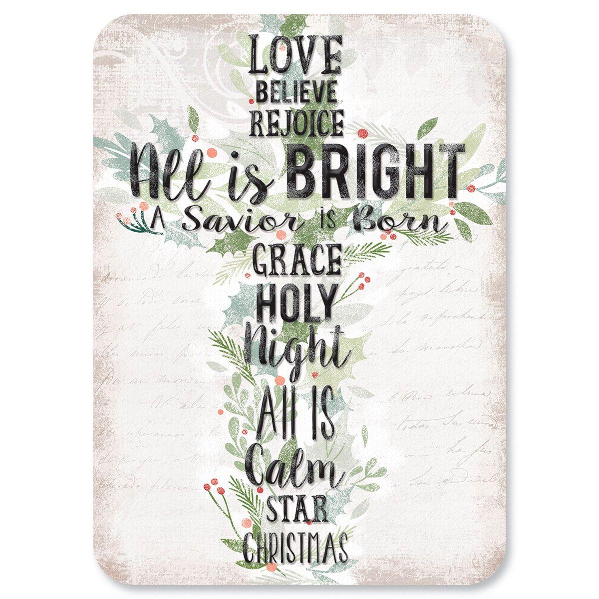 Diecut Holiday Cross Religious Christmas Cards
