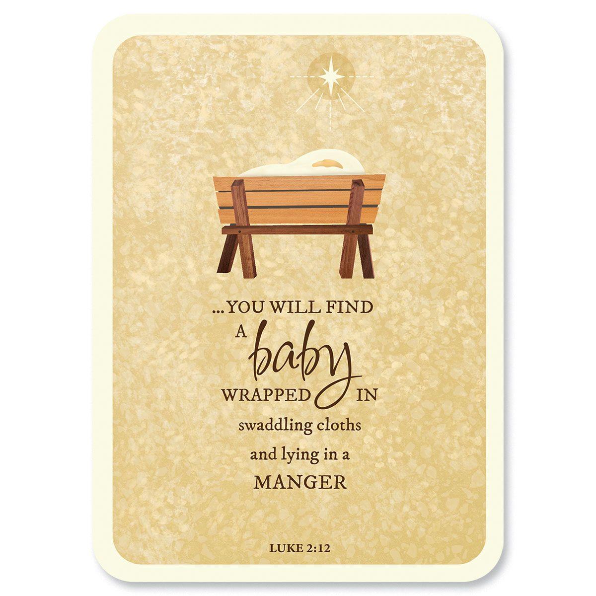 Diecut Manger Religious Christmas Cards