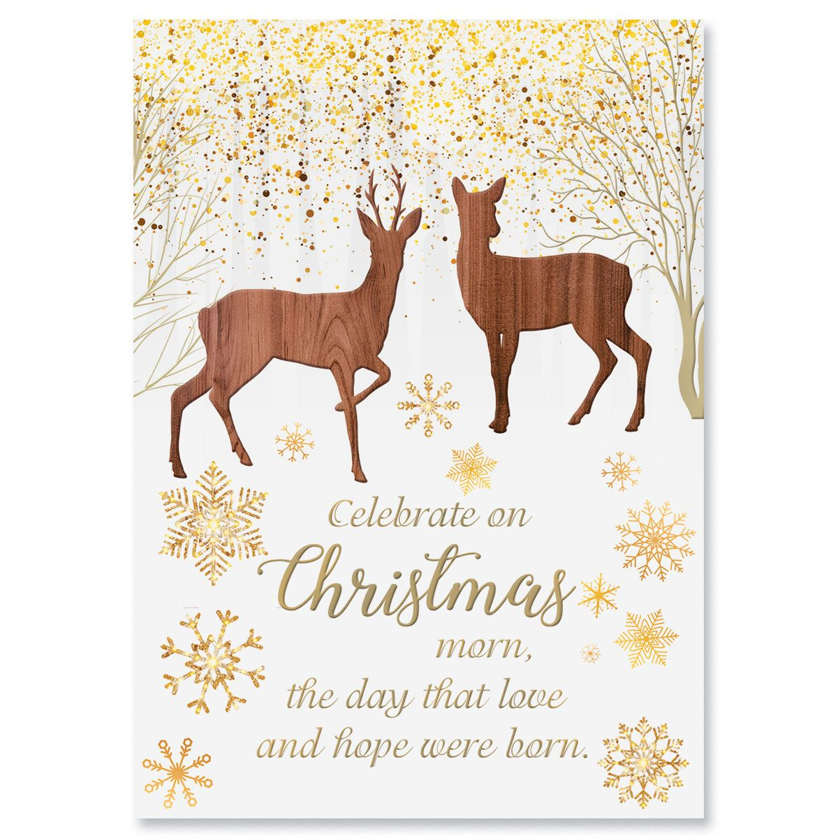 Reindeer Woods Religious Christmas Cards