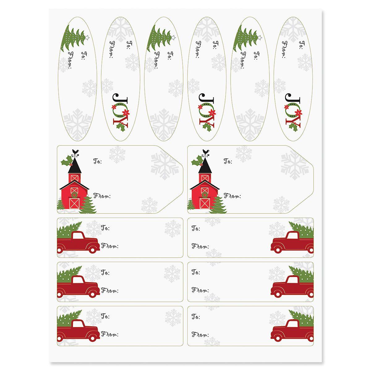 Joyful Haul Jumbo Rolled Gift Wrap and Labels