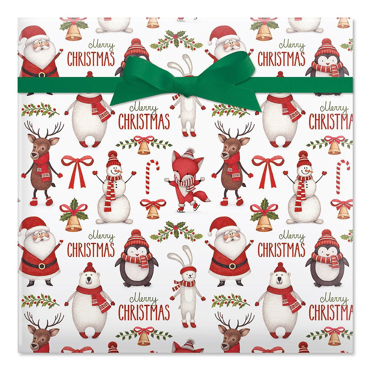 Winter Friends Jumbo Rolled Gift Wrap and Labels