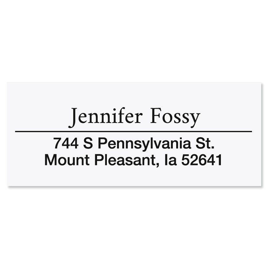 Accent Line Self-Inking Address Stamp