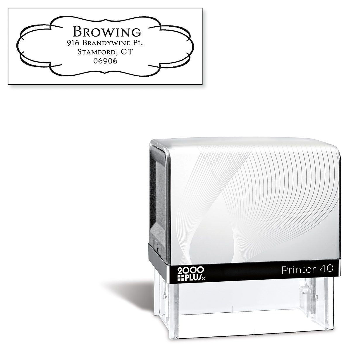 Elegant Frame Self-Inking Address Stamp