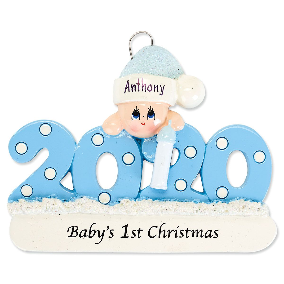 Baby's First Christmas 2020 Hand-Lettered Christmas Ornament
