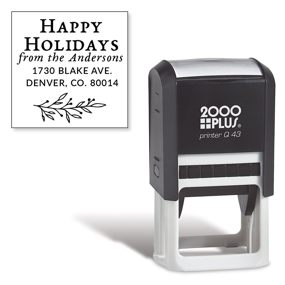 Happy Holidays Square Self-Inking Stamp