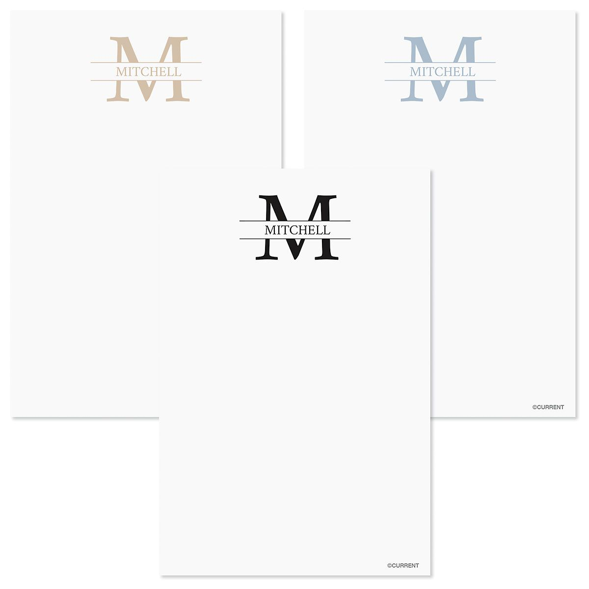 Front & Center Personalized Notes in a Tray