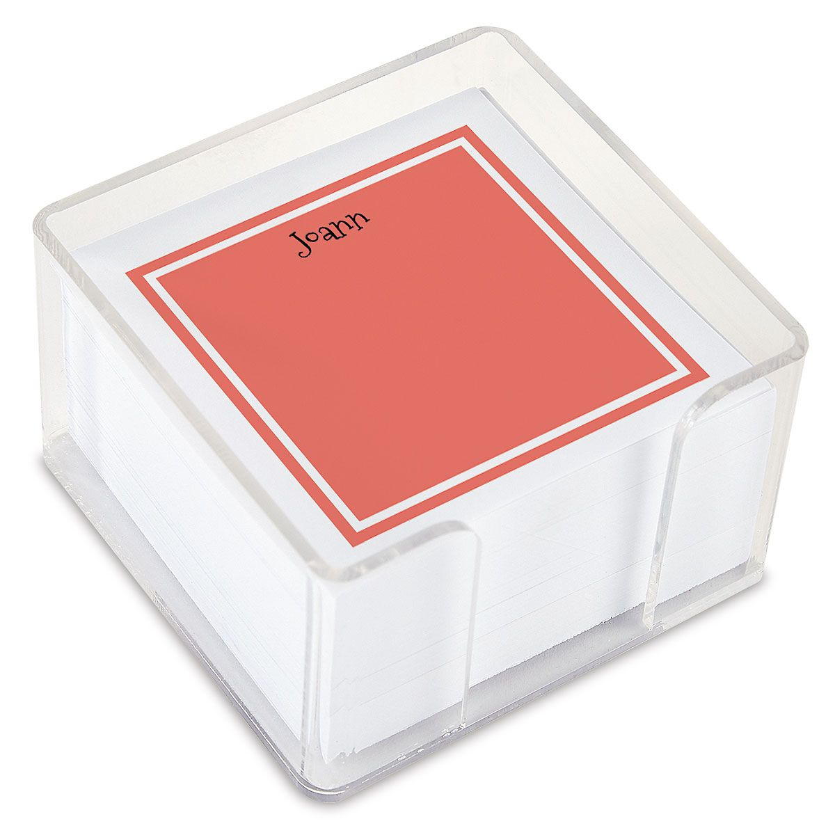 Color Trend Personalized Note Sheets in a Cube (4 rotating colors)