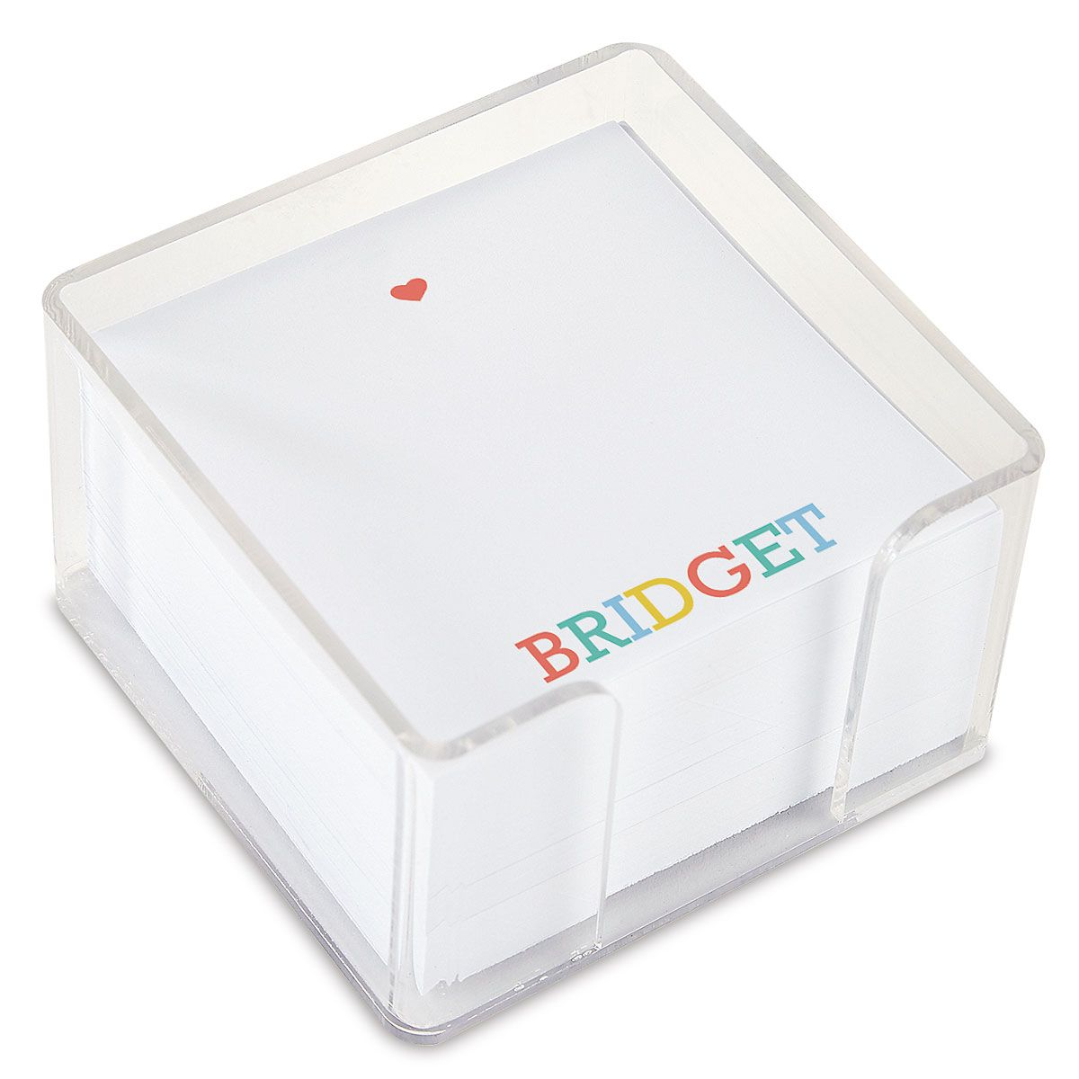 Alphabet Personalized Note Sheets in a Cube