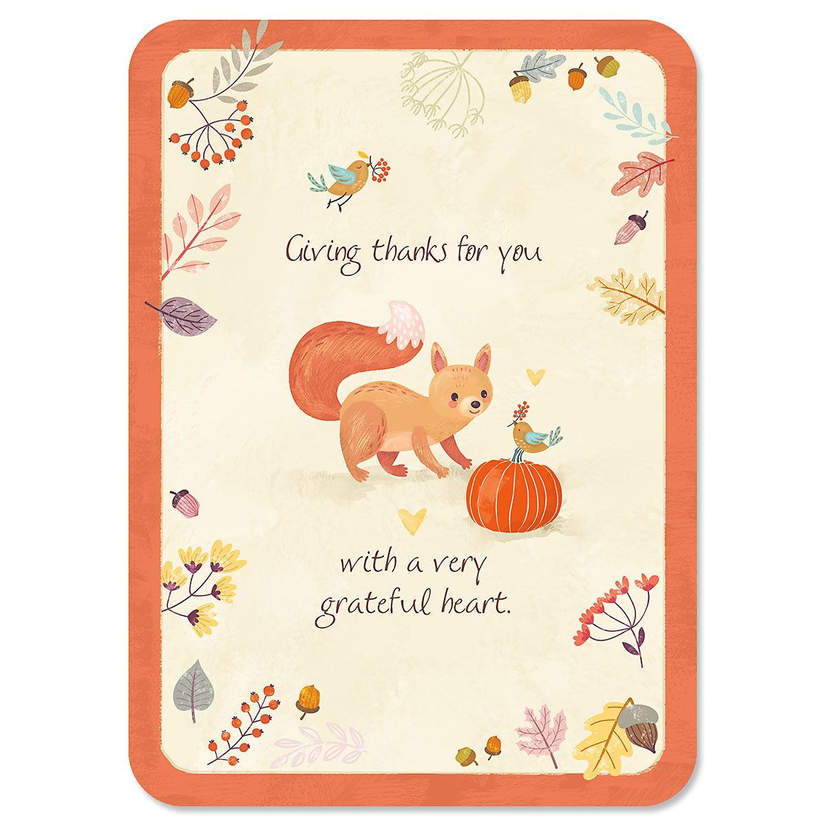 Squirrel Thanksgiving Cards