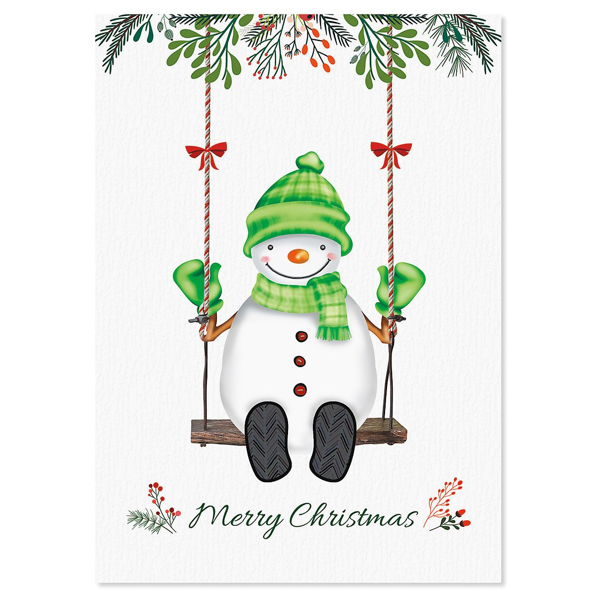 Swinging Snowman Christmas Cards