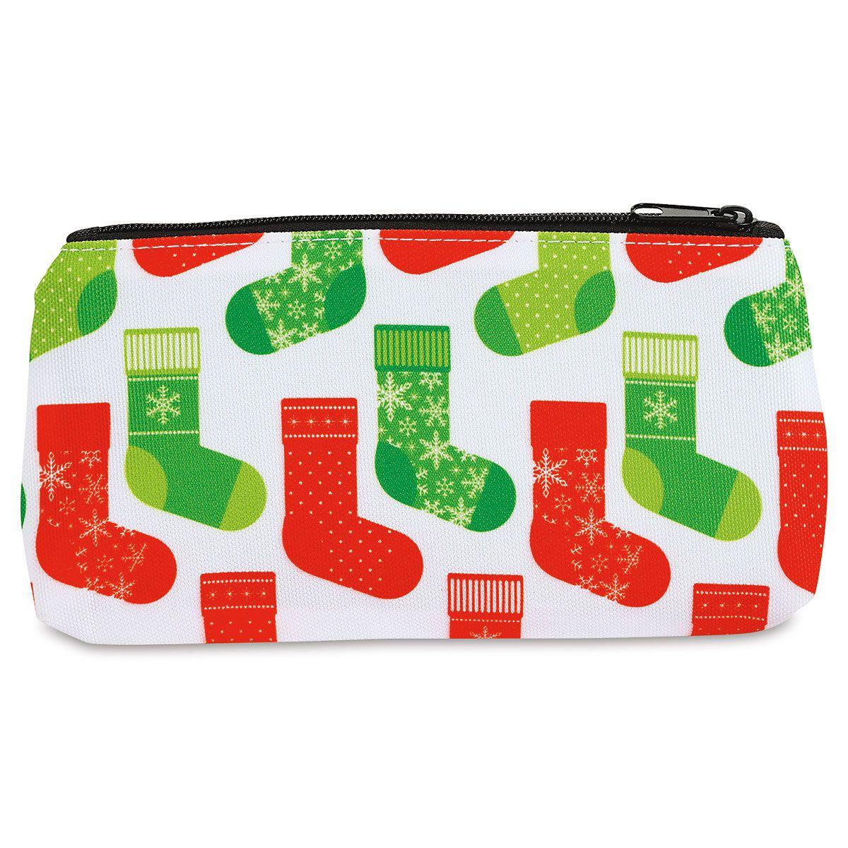 Red & Green Zipper Pouches - BOGO