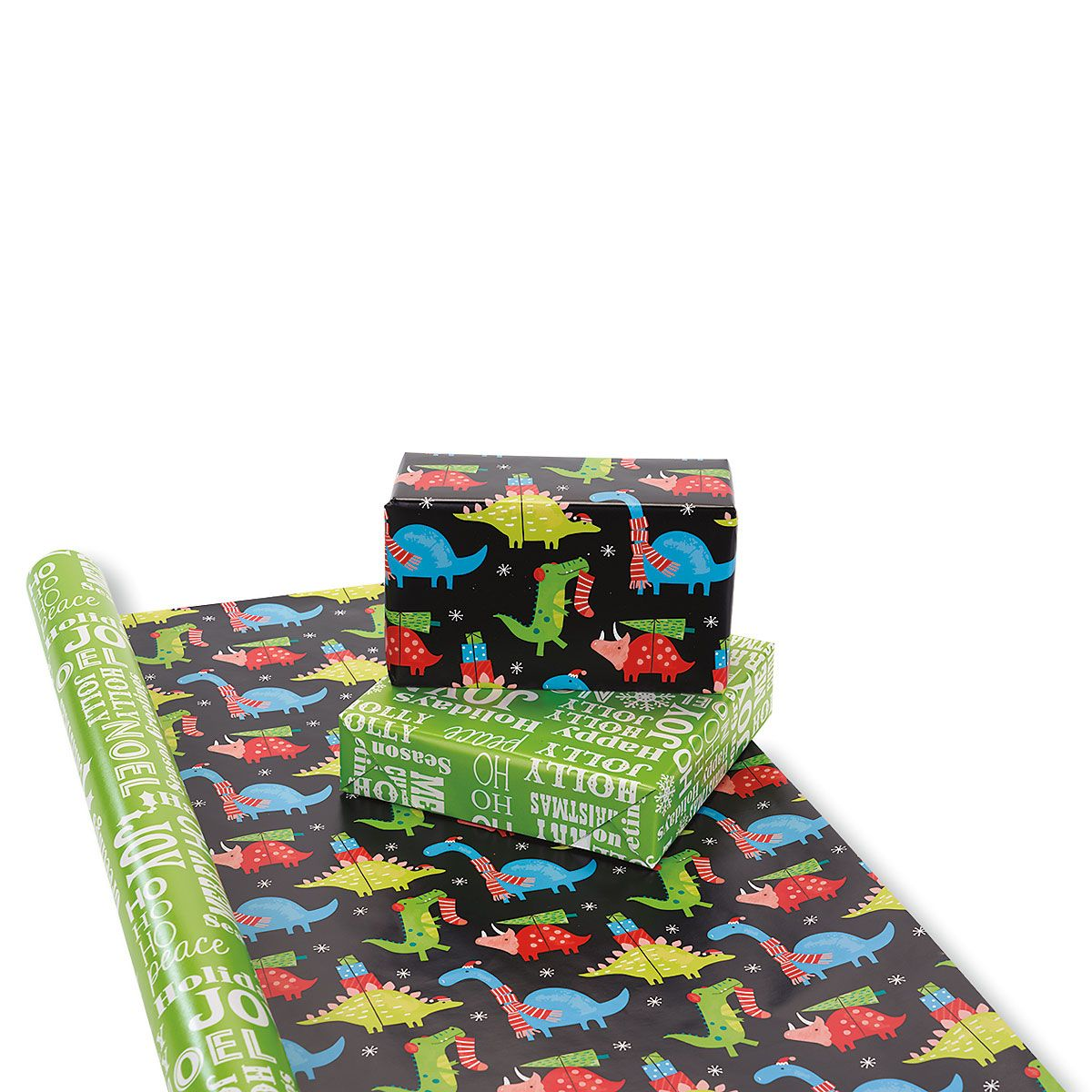Christmas Critters Double-Sided Jumbo Rolled Gift Wrap