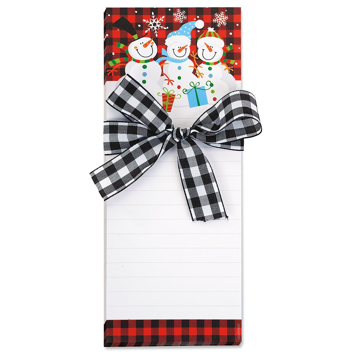 Snowman  Note Pads with Ribbon