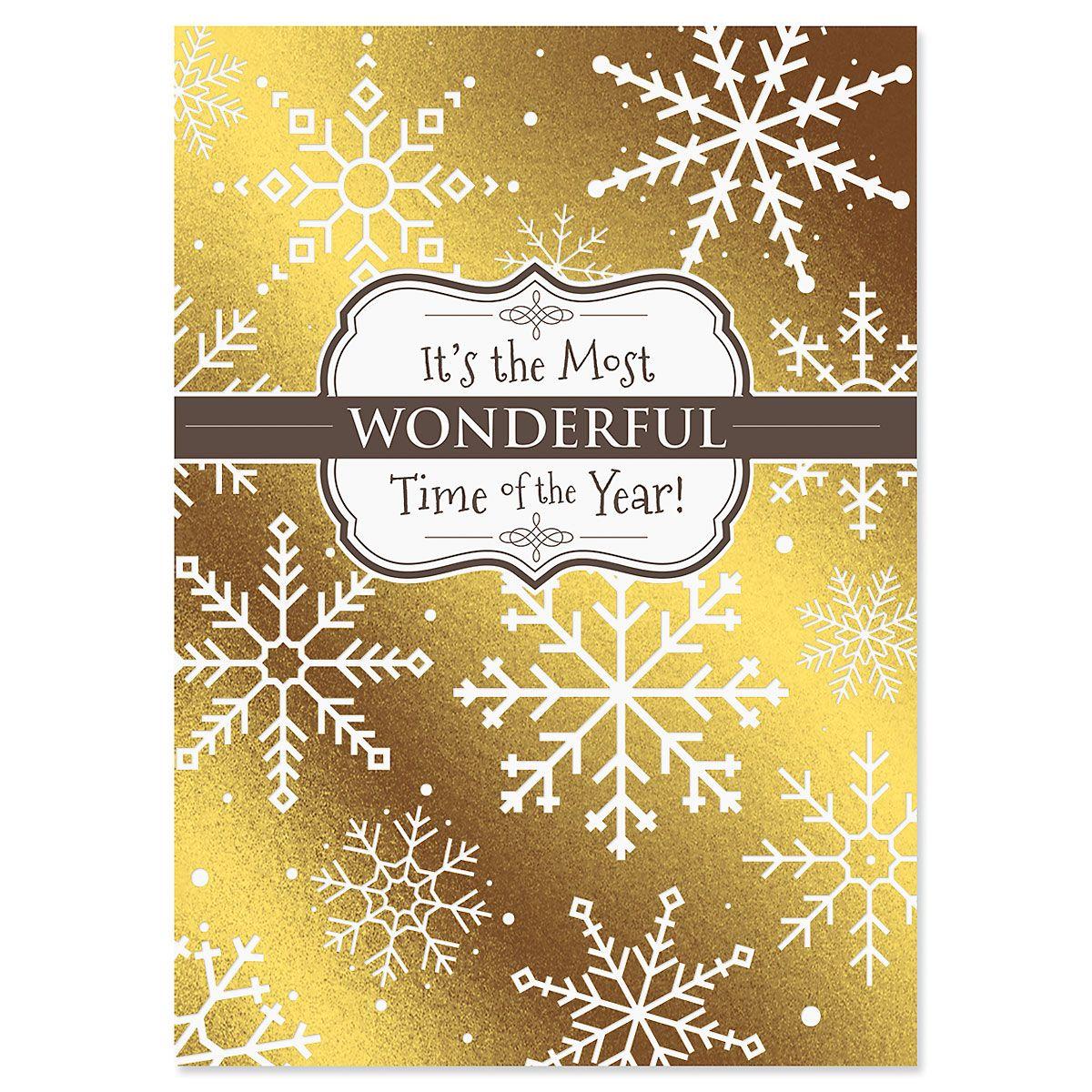 Sparkle Shine Deluxe Foil Christmas Cards