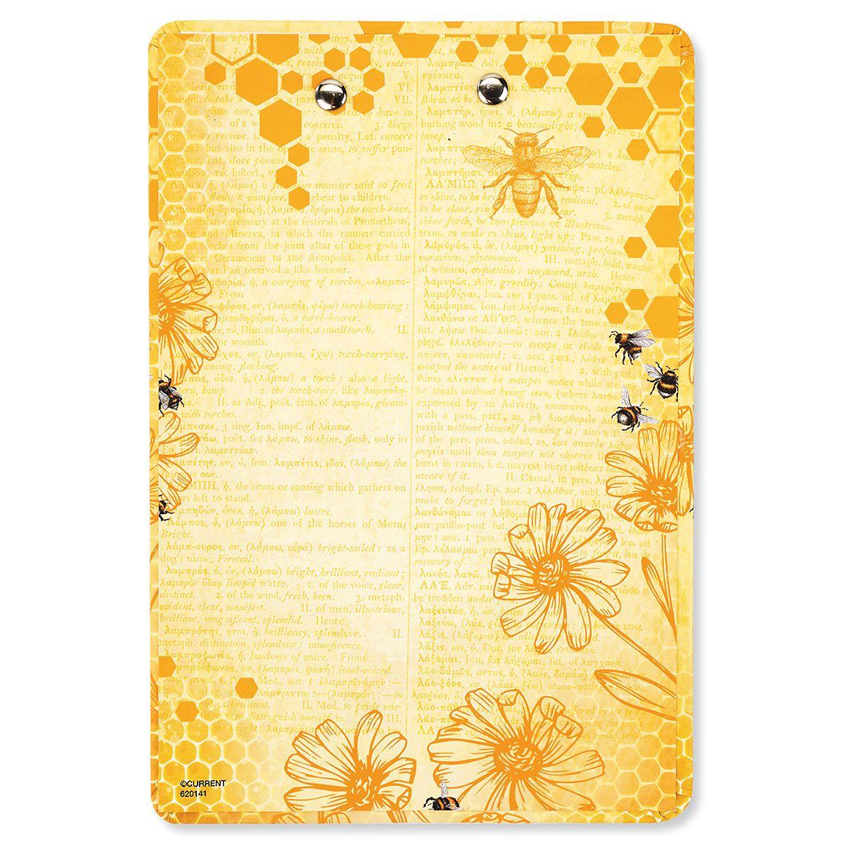 Bee/Yellow Notepad & Clipboard Gift - BOGO