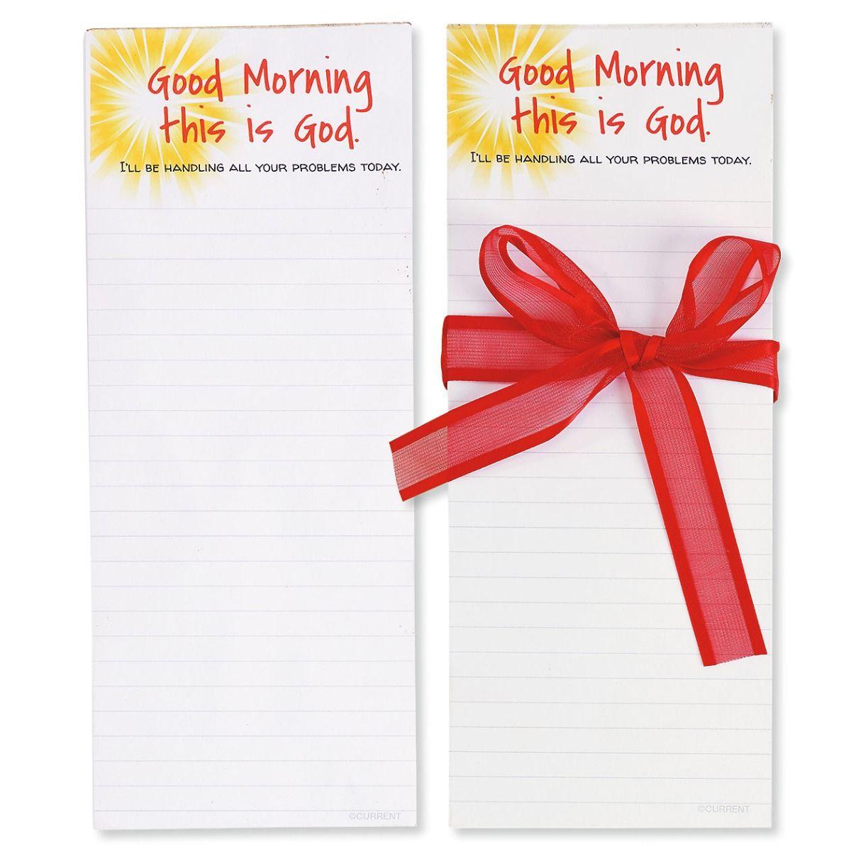 Good Morning Notepads with Ribbon - BOGO