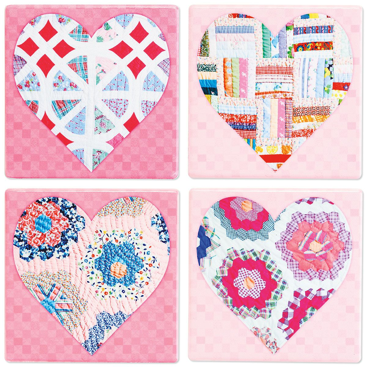 Heart Quilt Coasters